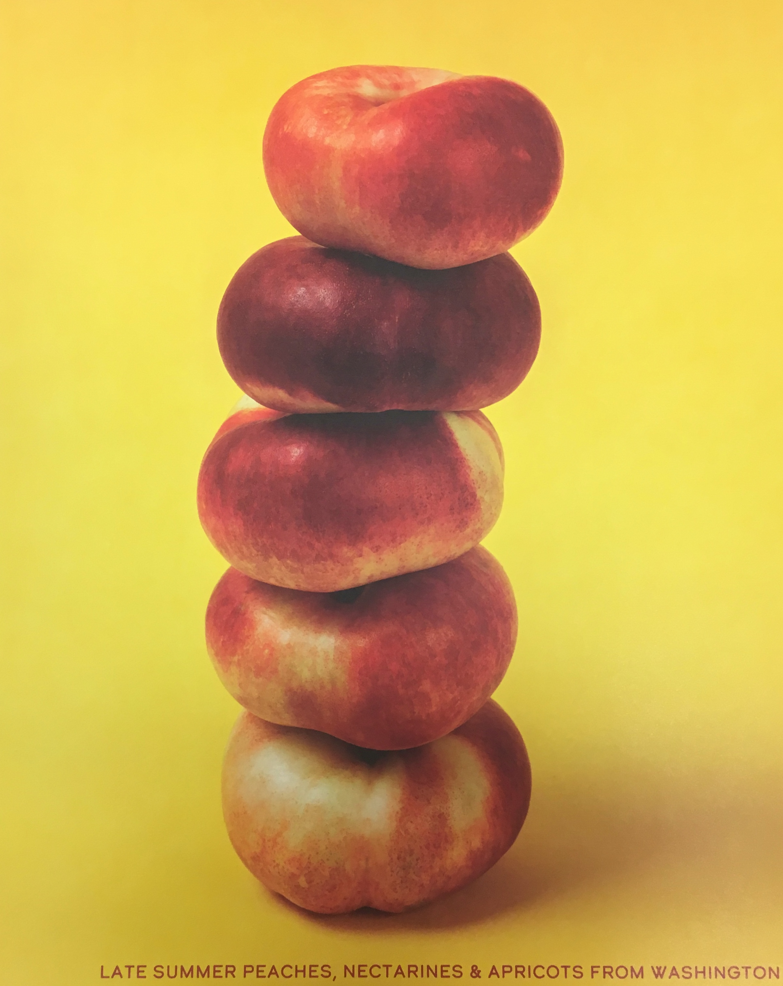 DONUT PEACHES STACKED POSTER