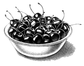 bowl cherries art